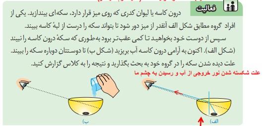 فعالیت صفحه 138 علوم هشتم